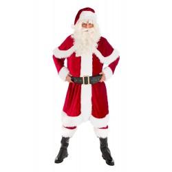 Costume de Père Noël Américain en Velours 6 Pièces