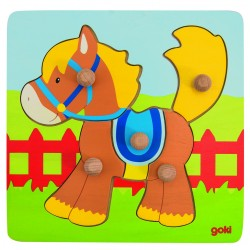 Puzzle picot à encastrement - cheval