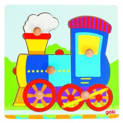 Puzzle picot à encastrement -  locomotive