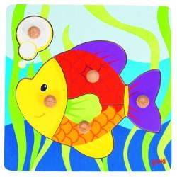 Puzzle picot à encastrement - poisson