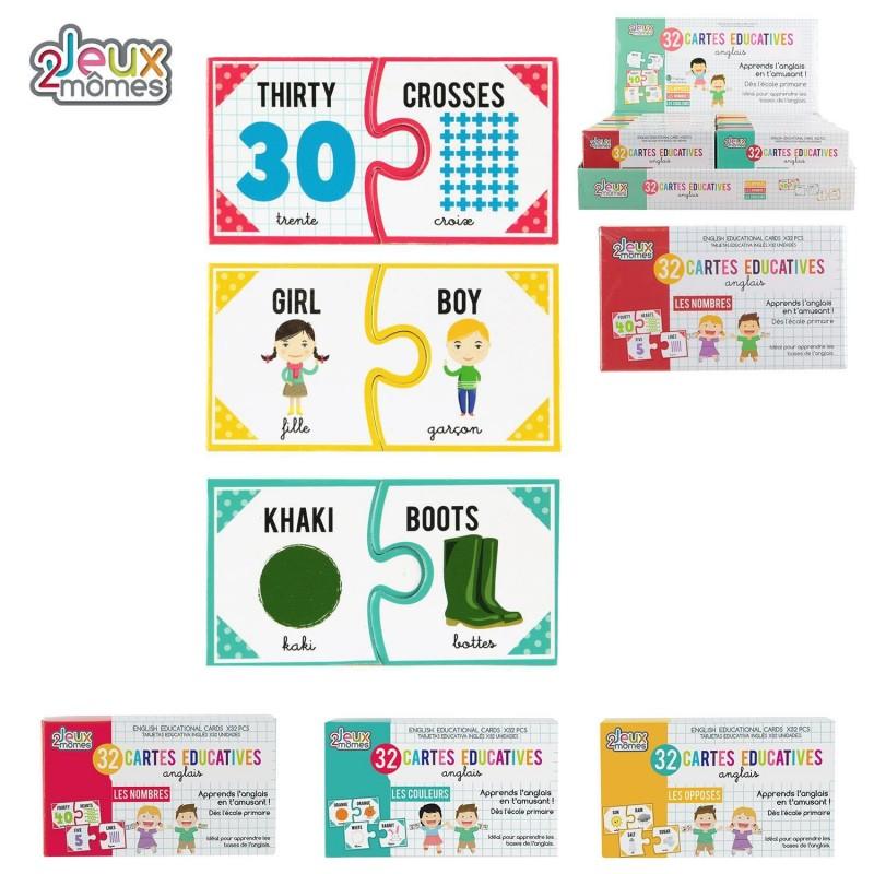 Cartes Educativesanglais Coti Jouets Specialiste Jouets De Kermesse Fete D Ecole Et Petits Jouets Pour Anniversaire