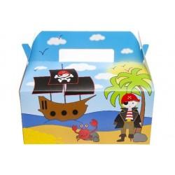 Boîtes Carton Repas Menu Enfant Pirate