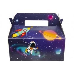 Boîtes Carton Repas Menu Enfant Espace (recto)