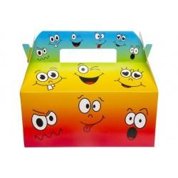 Boîtes Carton Repas Menu Enfant Visage Humoristique