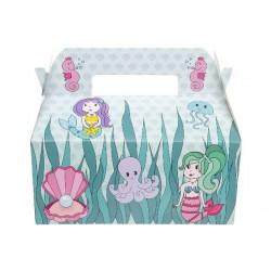 Boîtes Carton Repas Menu Enfant Sirène