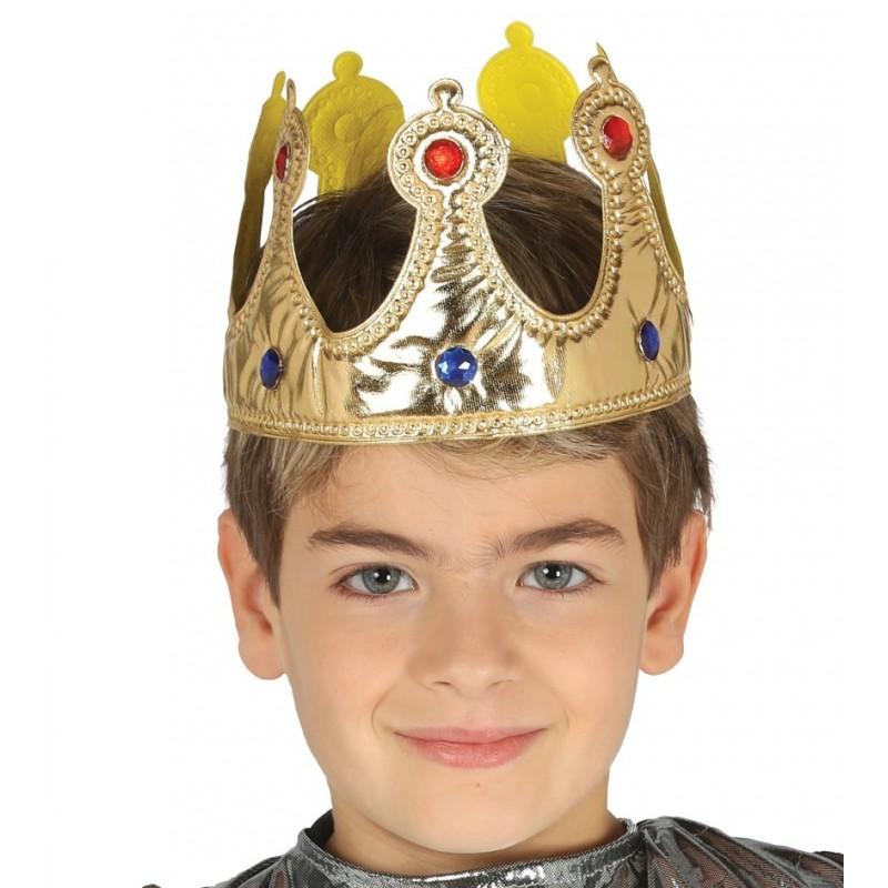 Couronne de Roi Enfant en Tissu