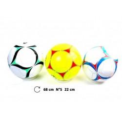Ballon de Foot Simili Cuir Taille N°5