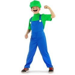 Déguisement de Super Plombier Enfant Vert