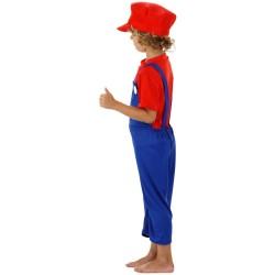 Déguisement de Super Plombier Enfant Rouge