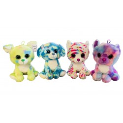 Peluche Animaux Colorés Yeux Brillants