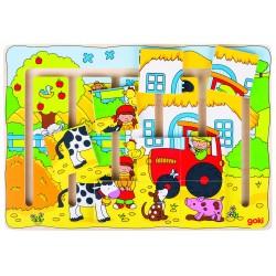 Puzzle Notre ferme 9 pièces
