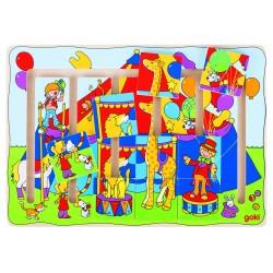 Puzzle à pousser Spectacle de cirque 9 pièces