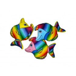 Peluche Poisson Tropical Multicolore