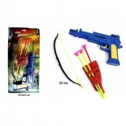 Pistolet Arbalète avec 3 Flèches