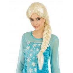 Perruque Blonde avec Natte La Reine des Glaces