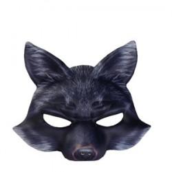Demi Masque Réaliste Renard Noir