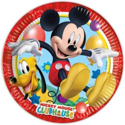 8 Assiettes En Carton Disney Mickey