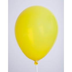 Ballons de Baudruche Cristal Jaune 100 Pièces