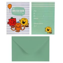 Cartes d'Invitation Anniversaire Monsieur Madame Garcon avec Enveloppes 6 Pièces
