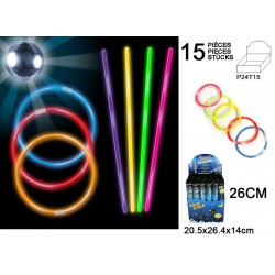 Bracelets Fluorescents 15 Pièces avec Embouts