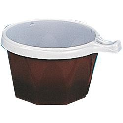 Tasse à café ps bicolore marron/blanc 17 cl x100
