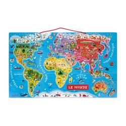 Puzzle Magnétique La Carte du Monde - Janod
