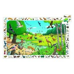 Puzzle d'observtion - Ballade en forêt 54 pièces