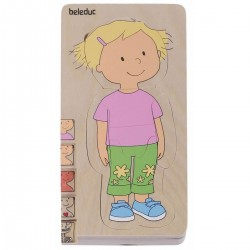 Puzzle Multi Couches Le Corps Humain Fille - Beleduc