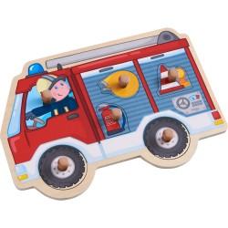 Puzzle à Encastrements Le Camion de Pompier - Haba