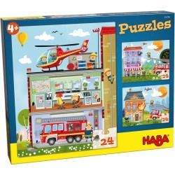 Puzzles Pompier 24 Pièces - Haba