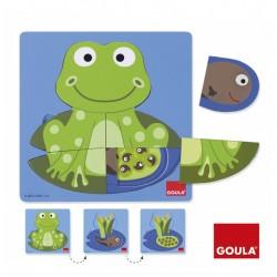 Puzzle 3 Niveaux Grenouille - Goula