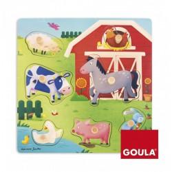 Puzzle à Encastrements Mamans et Bébés La Ferme - Goula