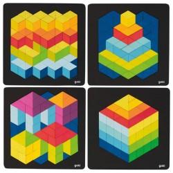 Puzzle à Encastrements Effet 3D Modèles Assortis - Goki