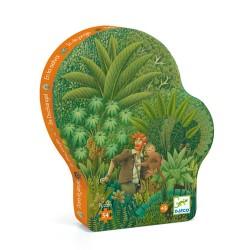 Puzzle Silhouette Dans la Jungle 54 Pièces - Djeco