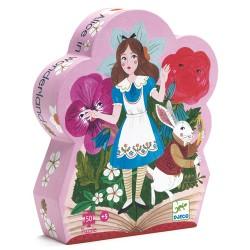 Puzzle Silhouette Alice aux Pays des Merveilles 50 Pièces - Djeco