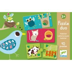 Puzzle Duo Habitat - Djeco