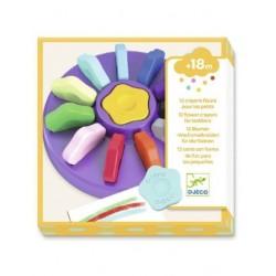 Crayons Fleurs Pour Les Petits 12 Pièces - Djeco DJ09005