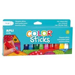 Tubes de Gouaches Solides 12 Crayons - Apli Kids 14228
