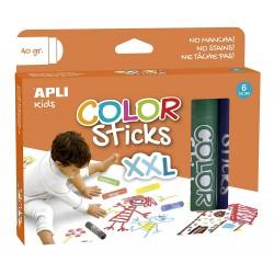 Tubes de Gouaches Solides XXL 6 Crayons - Apli Kids 17538