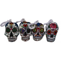 Porte Clés Coussin Tête de Mort Mexicaine