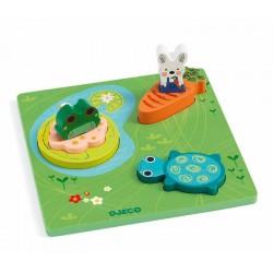 Puzzle à encastrement - 1, 2, 3 Froggy