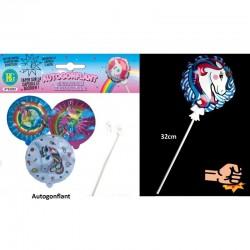 Ballon Licorne Autogonflant Avec Bâton