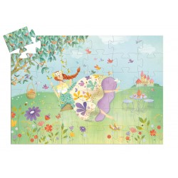 Puzzle Silhouette La Princesse Du Printemps 36 Pièces - Djeco