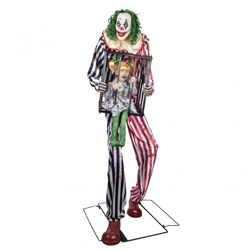 Clown Géant Effrayant Animé 240cm