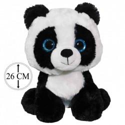 Peluche Panda Yeux Paillettes 26cm