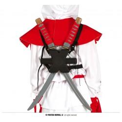 Epées de Ninja avec Fourreau Dorsal