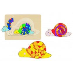 Puzzle 4 Couches - Escargots