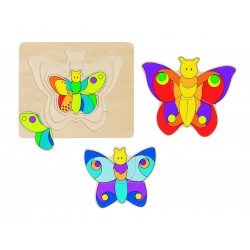 Puzzle 4 Couches - Papillon