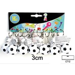 Porte Clés Ballon de Foot Plastique