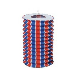 Lampion Cylindrique 16 cm Tricolore x12